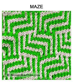 Mosaic Knitting - How to knit the MAZE stitch. Free pattern includes written instructions and PDF file