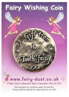 A gift from the tooth fairy coins