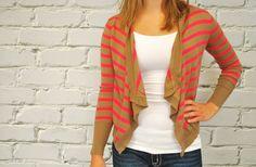 GroopDealz | Striped Cardigan Sweater