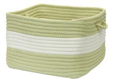 Rope Walk Indoor Outdoor Square Braided Basket, CB96 Celery Green