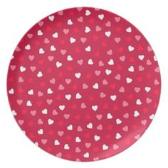 Valentines day skull with hearts dartboard with darts boyfriend tiny valentine hearts in red white pink melamine plate negle Gallery