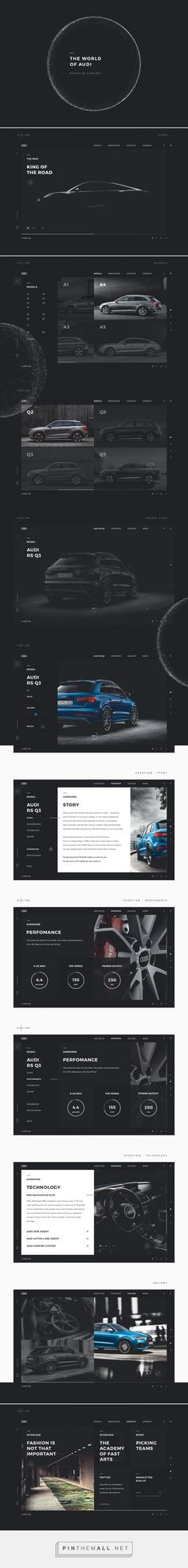 The World Of Audi on Behance - created via https://pinthemall.net