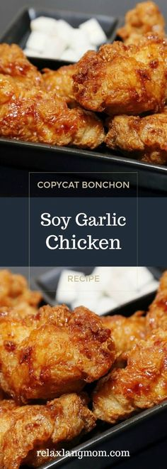 Cook this delicious and addicting Bonchon Soy Garlic Chicken Recipe at home -a crispy fried chicken in spicy, savory and sweet sauce. Chicken Recipes At Home, Garlic Chicken Recipes, Turkey Recipes, Korean Fried Chicken Recipe Soy Garlic, Filipino Fried Chicken Recipe, Chinese Garlic Chicken, Game Recipes, Okra, Chicken