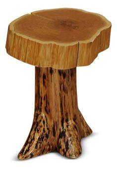 Ordinaire White Cedar Log U0027Stumpu0027 End Table | HOM Furniture | Furniture Stores In  Minneapolis