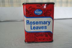 Kroger Rosemary Leaves spice tin cooking. by BlueBarnCollectibles, $13.00
