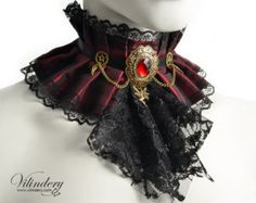 Violet collar with spikes Victorian Fairytale by Vilindery