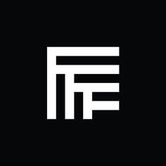 Symmetry Symptom (Form Fifty Five) Fff Logo, Logo Branding, Branding Design, App Design, Typography Letters, Lettering, Name Card Design, Fitness Logo, Symbol Logo