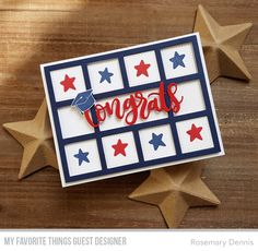Stamps: Tassel Time, Star Graduate Die-namics: Horozontal Collage Cover-Up, Congrats Rosemary Dennis #mftstamps