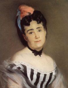 Eva Gonzales, Portrait de Madame E. G.