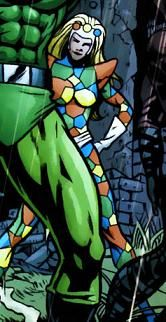 Crazy Quilt II - She's a member of the Secret Society of Super-Villains. I think the creator doesn't know any quilters - because they're the nicest group of people I've ever known! :)