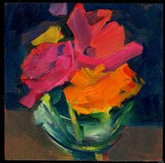 "sold  still life, acrylic, 6"" x 6"""