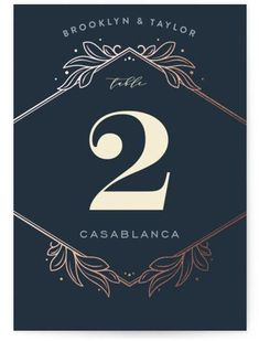 """""""Engraved"""" - Customizable Foil-pressed Wedding Table Numbers in Blue by GeekInk Design. Black Table, Wedding Table Numbers, Front Design, Special Day, Tablescapes, Recycling, Wedding Invitations, Text Photo, Prints"""
