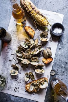 Grilled Clams with Charred Jalapeño Basil Butter | halfbakedharvest.com @Half Baked Harvest