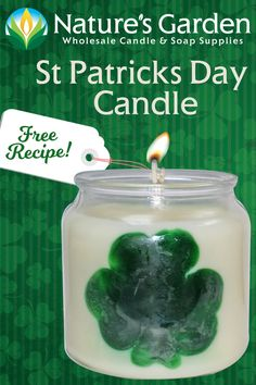 Free St. Patrick's Day Candle Recipe by Natures Garden