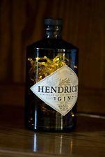 Upcycled modern cool hendricks gin bottle lamp light