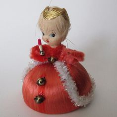 Vintage Spun Cotton Christmas ornament. $12.00, via Etsy.
