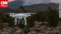 """A DJI Phantom drone captured in action via CNN """"How to Shoot Amazing Videos from Drones."""