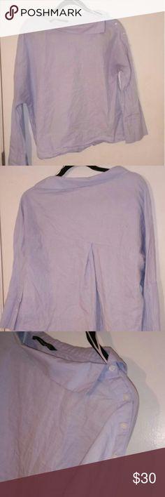 Zara blue off shoulder collar shirt Zara blue off shoulder collar shirt Zara Tops Button Down Shirts