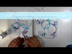 mixed media art using india ink, quilling, and stamping.  Super colorful!  Love this video!! http://thefarpavilion.com/2015/09/14/speech-bubbles-mixed-media-quilling-art/