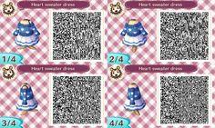 Animal crossing new leaf heart sweater dress qr code