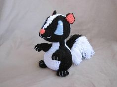 Crocheted Skunk PDF Pattern - via @Craftsy 3.50