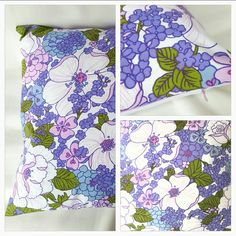 Purple vintage cushion cover