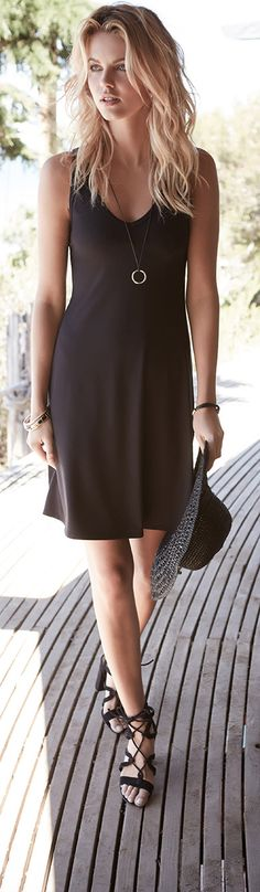 This may be the 'perfect' black dress. It's only $89 (and made in the USA)...