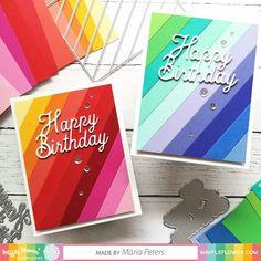 Rainbow Card, Rainbow Paper, Card Making Tutorials, Making Ideas, Strip Cards, Happy Birthday Words, Cricut Cards, Cricut Birthday Cards, Card Sketches