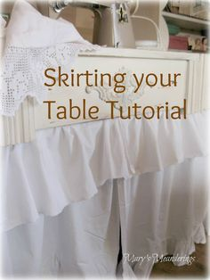 Skirting your table tutorial
