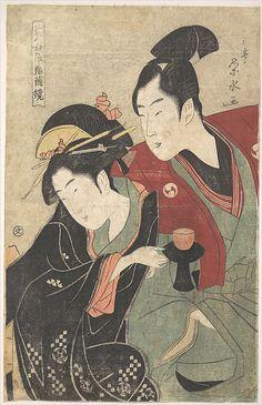 "Scene from the ""Chushingura"" Drama  Ichirakutei Eisui  (Japanese, active ca. 1793–1801)  Period: Edo period (1615–1868) Date: ca. 1797 Culture: Japan Medium: Polychrome woodblock print; ink and color on paper"