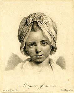 portrait of a young girl wearing a bonnet; after Pierre Alexandre Wille. 1772 Engraving