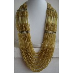 Gold Necklace/Beadwork Necklace/Statement Necklace/Bohemian Necklace/Chunky Necklace/Bib Necklace/Beaded Necklace/Beaded Jewelry