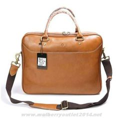 7ecdbba6f5ad Mulberry Mens Small Oliver Natural Leather Laptop Briefcase Light Coffee  For Cyber Monday Mulberry Wallet