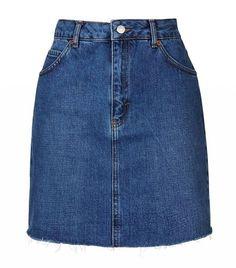 Topshop MOTO Raw High-Waisted Skirt