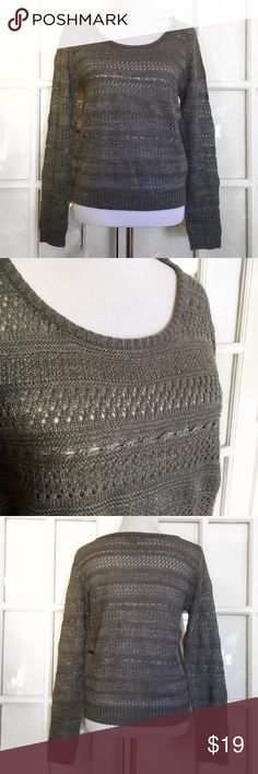 Metaphor Grey Shimmer Knit Sweater Fabulously cozy with a touch of Shimmer, this Grey Metaphor Sweater is perfect for layering! Tank, tee or button down, it goes with everything :) 92% Acrylic, 5% Polyester 2% Metallic Machine Wash/ Dry Flat Metaphor Sweaters Crew & Scoop Necks