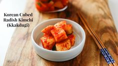 How to Make Korean Cubed Radish Kimchi Kkakdugi (깍두기) by My Korean Kitchen