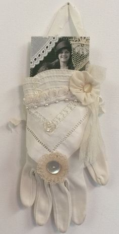 Embellished Vintage Glove for Mother's Day by JudyMurrahDesigns