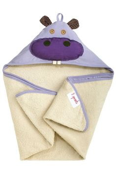 These animal hooded towels from 3 Sprouts are great for bath time or a day at the pool. Made of a spa grade natural terry towelling on the inside and cotton knit on the outside, these will get your li