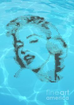 Marilyn Monroe In Transparent Water by Rodolfo Vicente Marilyn Monroe Tattoo, America, Fine Art, Wall Art, Water, Cards, Illustrations, Tattoos, People