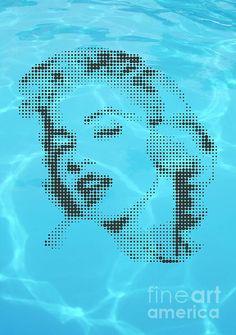 Marilyn on blue water