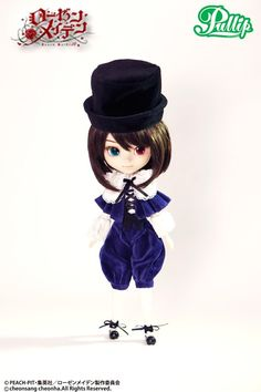 *Available Now / Accessories: Hat, Spring, Doll Stand / Set Contents: Hat, Shirt, Cape, Vest, Pant, Tights, Shoes, Spring / Feeling: Good to meet you, Are you my master? I'm SOUSEISEKI, the Forth Rozen Maiden dolls....Feel Like So. / - Pullip Rozen Maiden New Series, Twin Dolls SOUSEISEKI arrived together her sister!! / - She has boyish Dark Brown hairstyle, and her signature Red and Green Odd-Eyed. /    We, GROOVE represent for Souseiseki looks expression of good sense!!