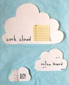 DIY: How To Make A Cork Cloud Notice Board | Miss Vicky Viola