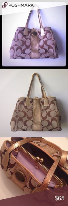 Coach bag Coach bag   Color: brown & tan  (Used)   This large Coach bag was designed to hold all of your goodies. It does have minor visible wear on handle & bottom of bag (as shown in photos above) but overall a great value.   Buy or make an offer today ✨ Coach Bags