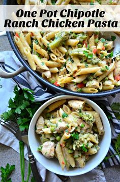 Want to whip up a quick dinner? Katie's Cucina has you covered! This Chipotle Ranch Chicken Pasta is super flavorful (and only leaves you one pot to clean up)!