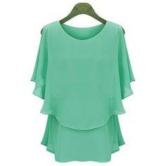 Summer Style Blusas Kimono Blusa Feminina Blouse Women Tops Shirt Camisa Feminina Chiffon Casual O Neck Plus Size Blouses 1630 Chiffon Ruffle, Chiffon Tops, Chiffon Shirt, Print Chiffon, Ruffle Top, Blouse Styles, Blouse Designs, Blouse Online, Blouse Dress