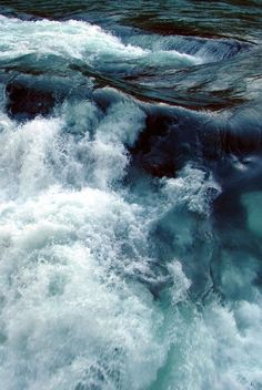 There is something very eerily mesmerising about flowing water... love the deep blue and green icy tones.
