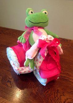 Frogger Diaper Cake