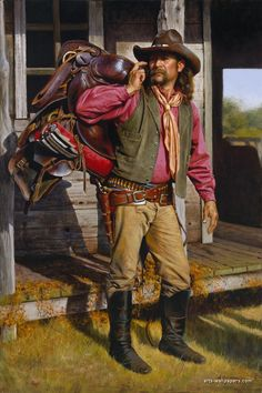 Alfredo Rodriguez Cowboy old west Real Cowboys, Cowboys And Indians, Cowgirl And Horse, Cowboy Art, American Indian Art, Native American Art, Art Indien, Westerns, Cowboy Pictures