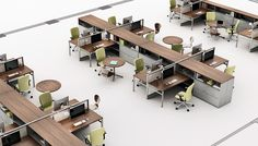 Template® and Dividends Horizon® - multiuse within desk area, not too divided, freestanding furniture could be merged for large meeting