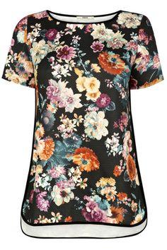Texturizado Floral T-Shirt